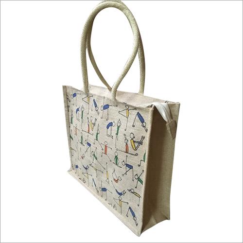 Jute Zipper Bag
