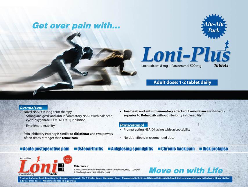 Lornoxicam 4 mg, 8 mg & 16 mg