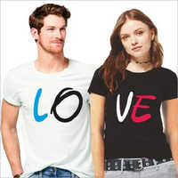 Casual Wear Couple T-Shirt Set