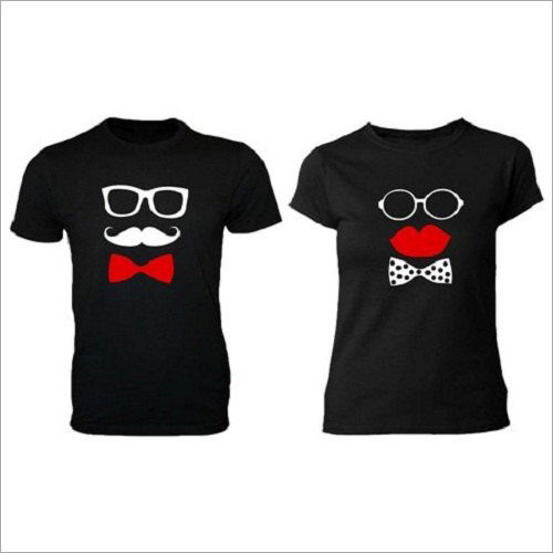100% Cotton Couple T-Shirt Set