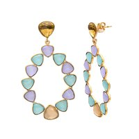 Multi Gemstone Earrings