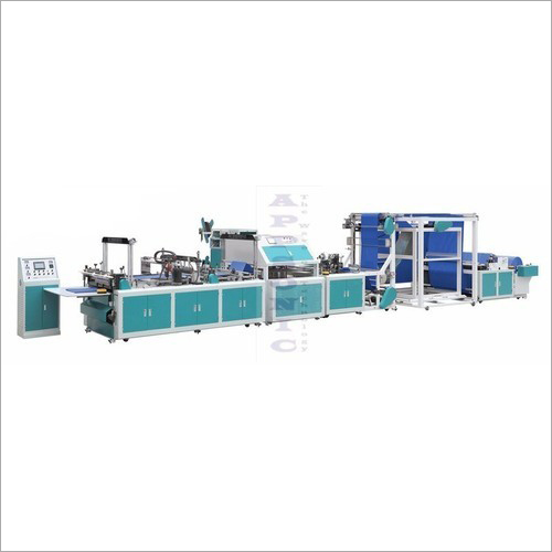 Automatic Non Woven Online Loop Handle  Box Bag Making Machine