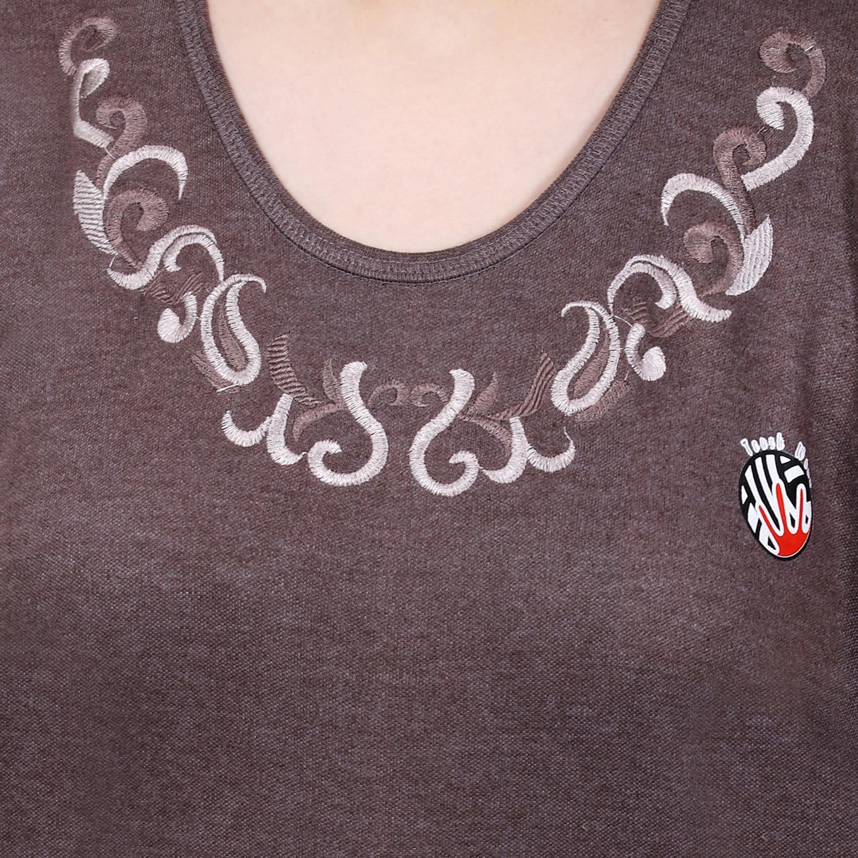 Haff Sleeve Woman Embroidery Tharmocot