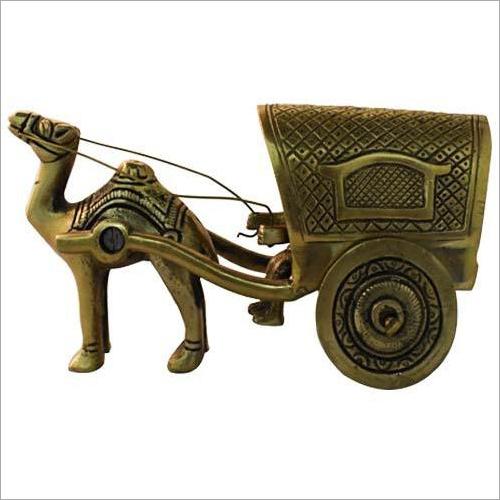 Brass Camel Chariot