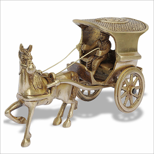 Brass Horse Chariot
