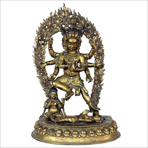 Lord Vairava Brass Statue