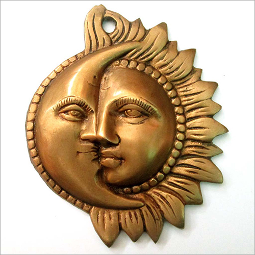 Brass Sun And Moon Wall Hanging