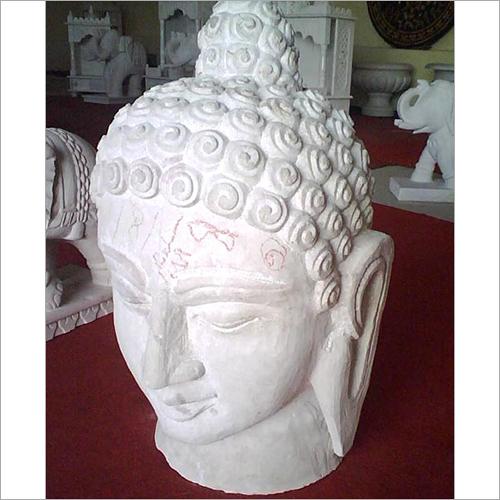White Handcrafted Buddha Statue