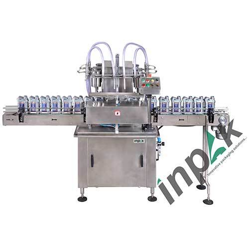 Fully 4 Head Liquid Bottle Filling Machine