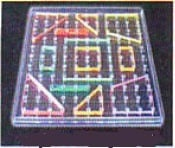 Geoboard made of transparent plastic