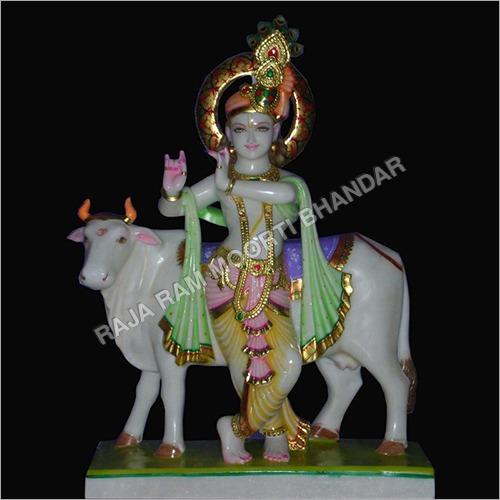 Marble Gau Gopal Statue