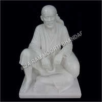 Sitting Sai Baba Marble Statue