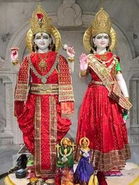 Shree Laxmi And Narayana Marble Statue