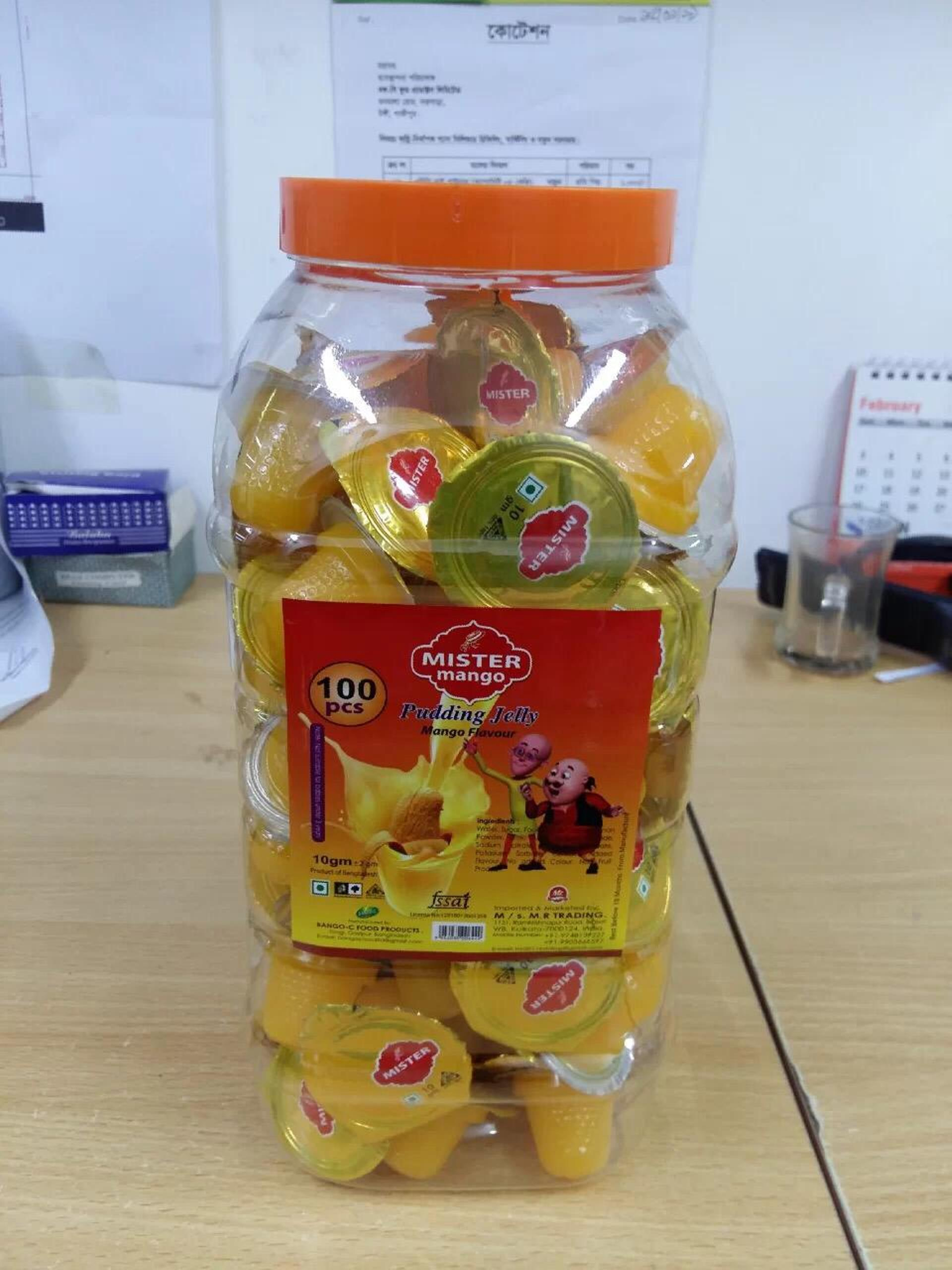 Mango Pudding Jelly Cup