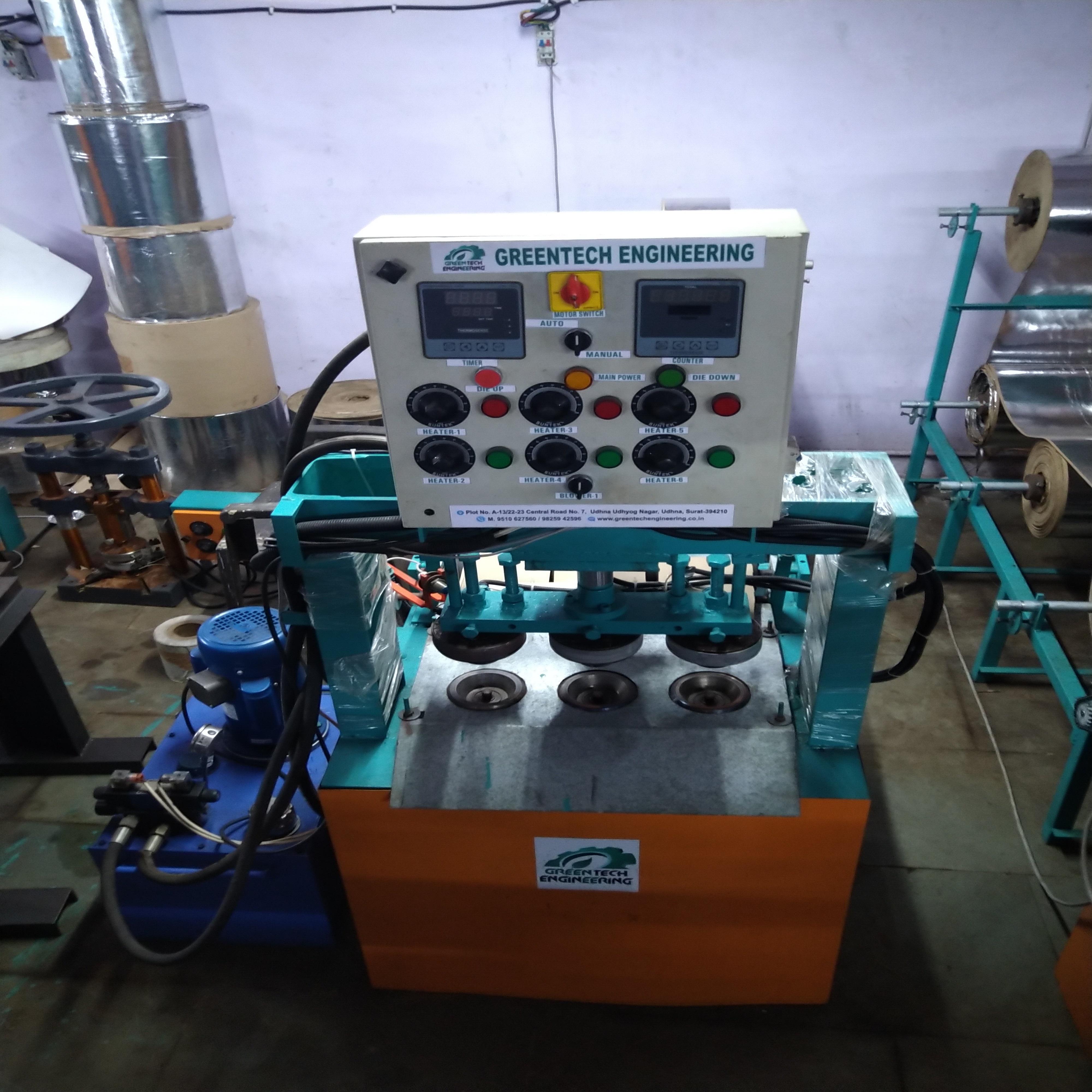 Triple Die Hydraulic Dona Making Machine