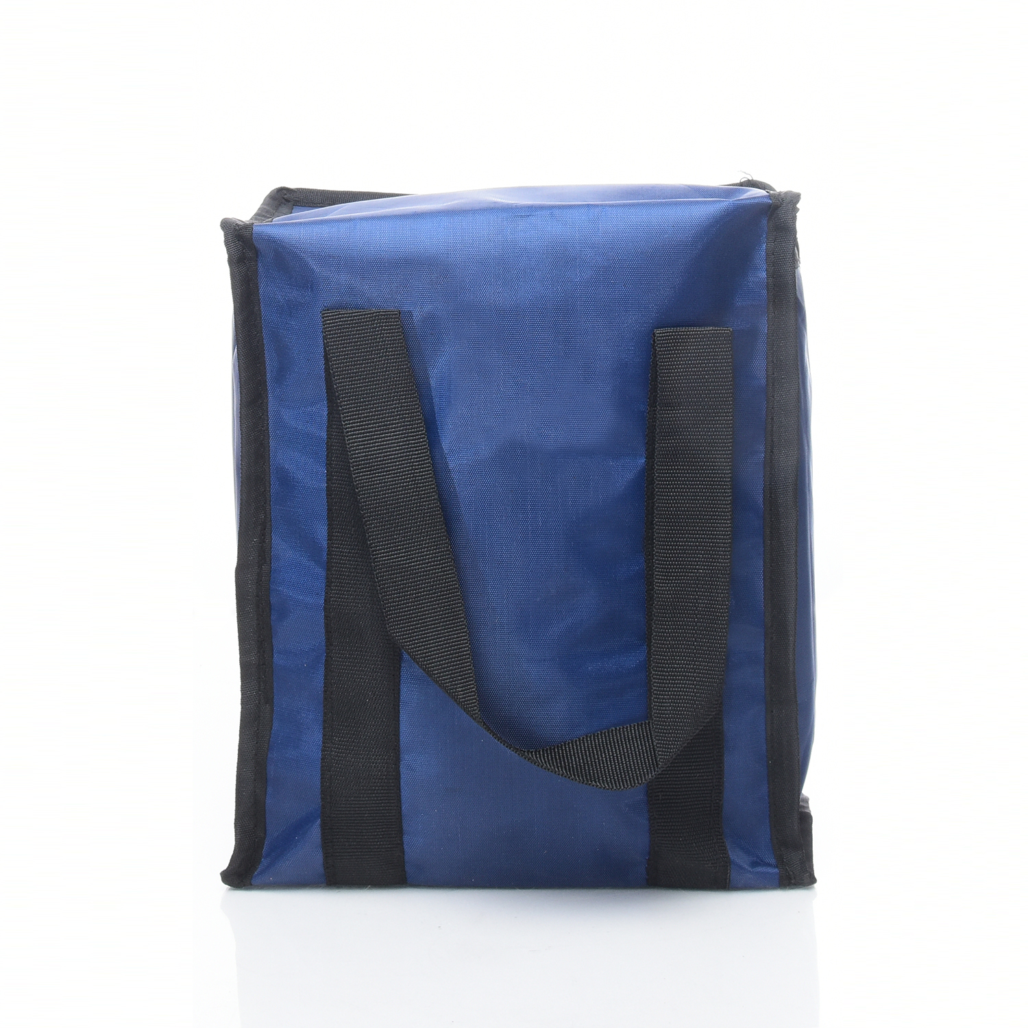 blue polyester lunch bag