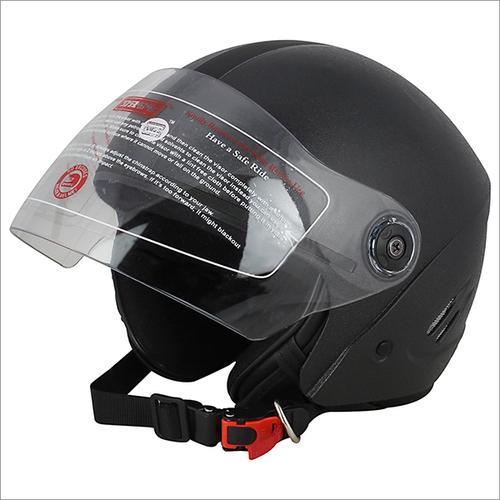 Open Face Black Isi Helmet