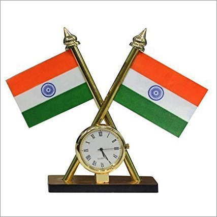 Indian Flag With Clock
