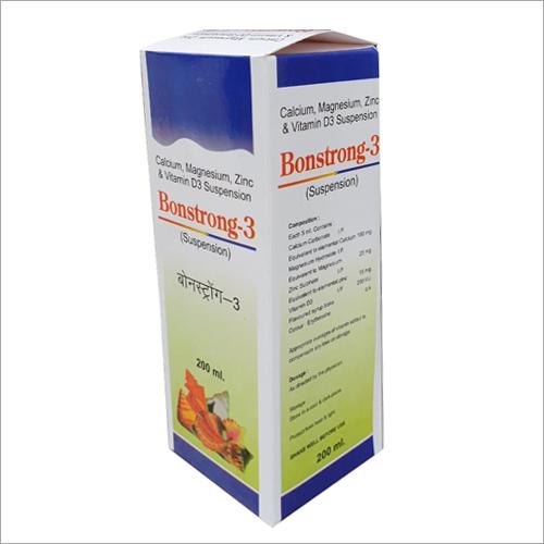 200 ml Calcium Magnesium Zinc And Vitamin D3 Suspension