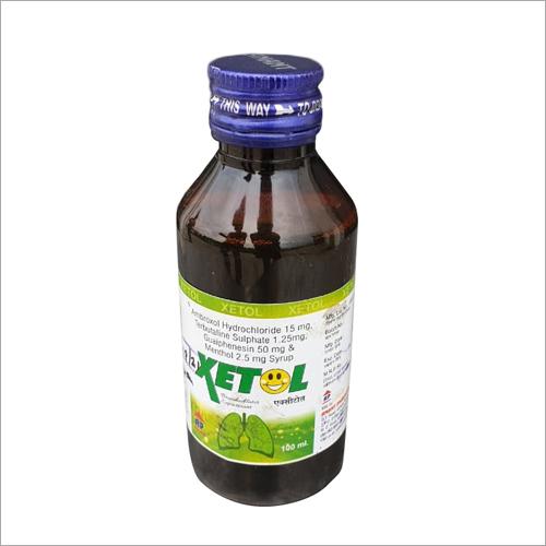 Ambroxol Hydrochloride 15 mg Terbutaline Sulphate 1.25mg Guaiphenesin 50 mg And Menthol 2.5 mg Syrup