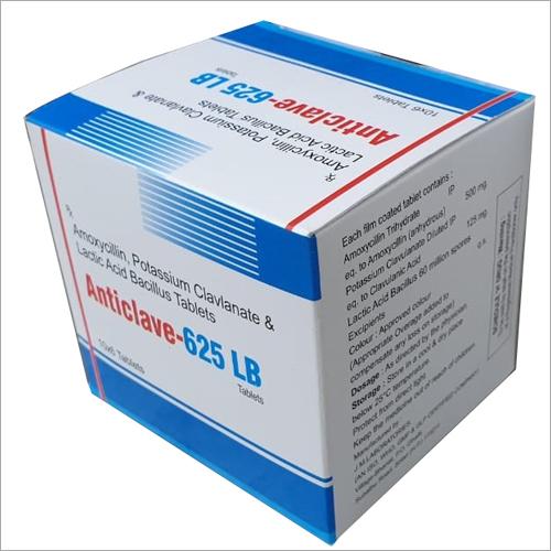 Amoxicillin Potassium Clavulanate And Lactic Acid Bacillus Tablet