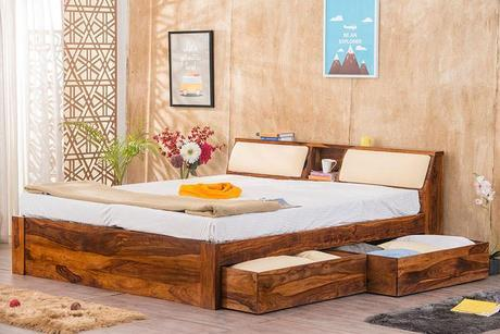 Double BED with Slant storage