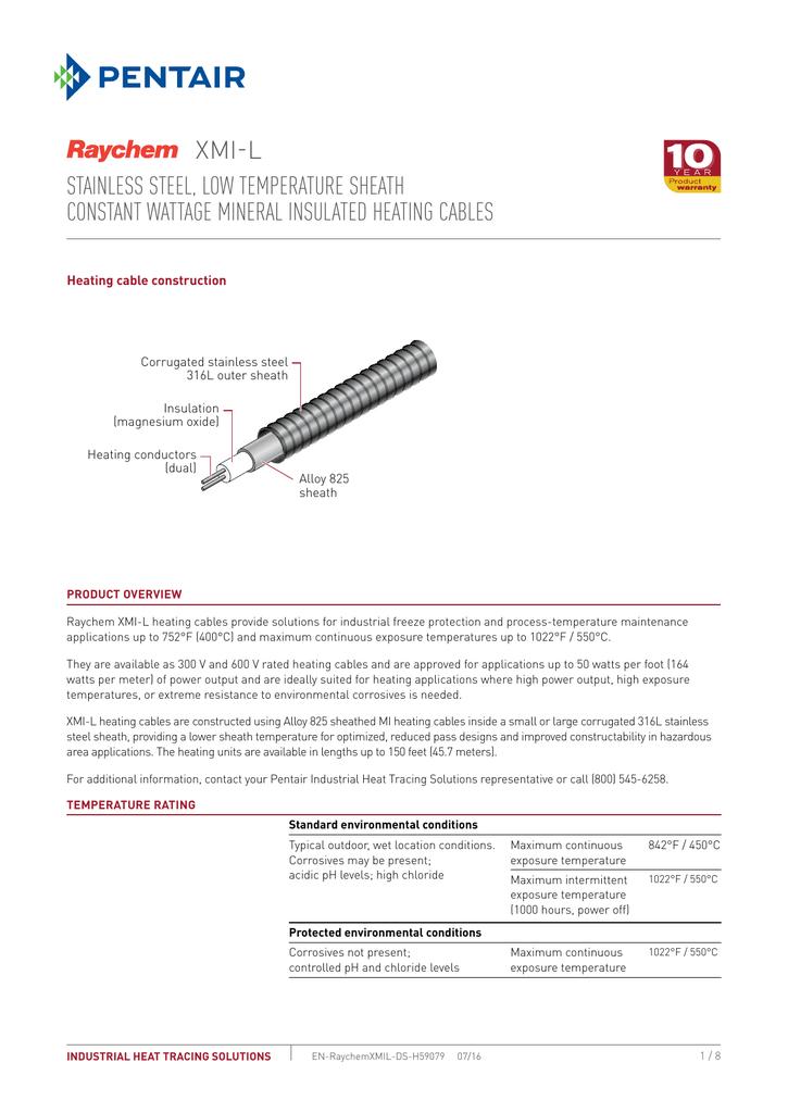 Raychem XMI L Cable