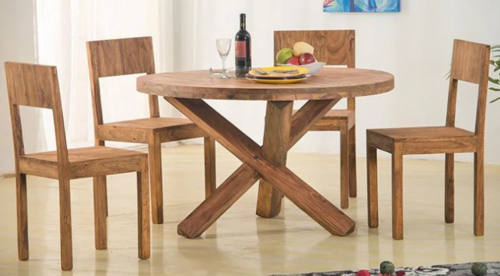 Round Dining Cross legs