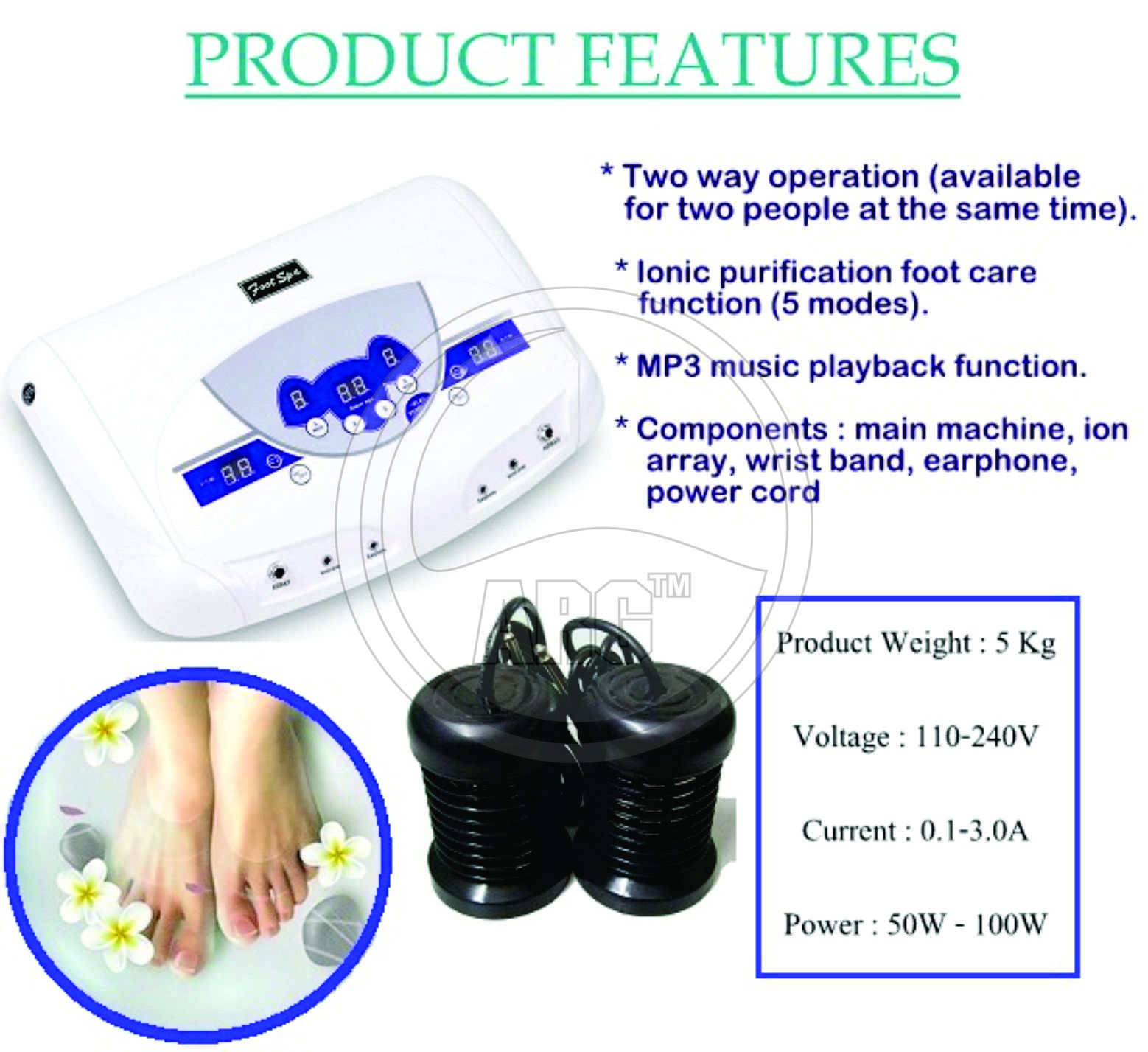 Toxin Removing Machine With MP3