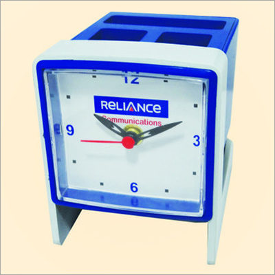Promotional Table Clock With Pen Stand