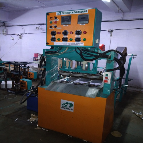 Three Die Hydraulic Paper Dona Machine