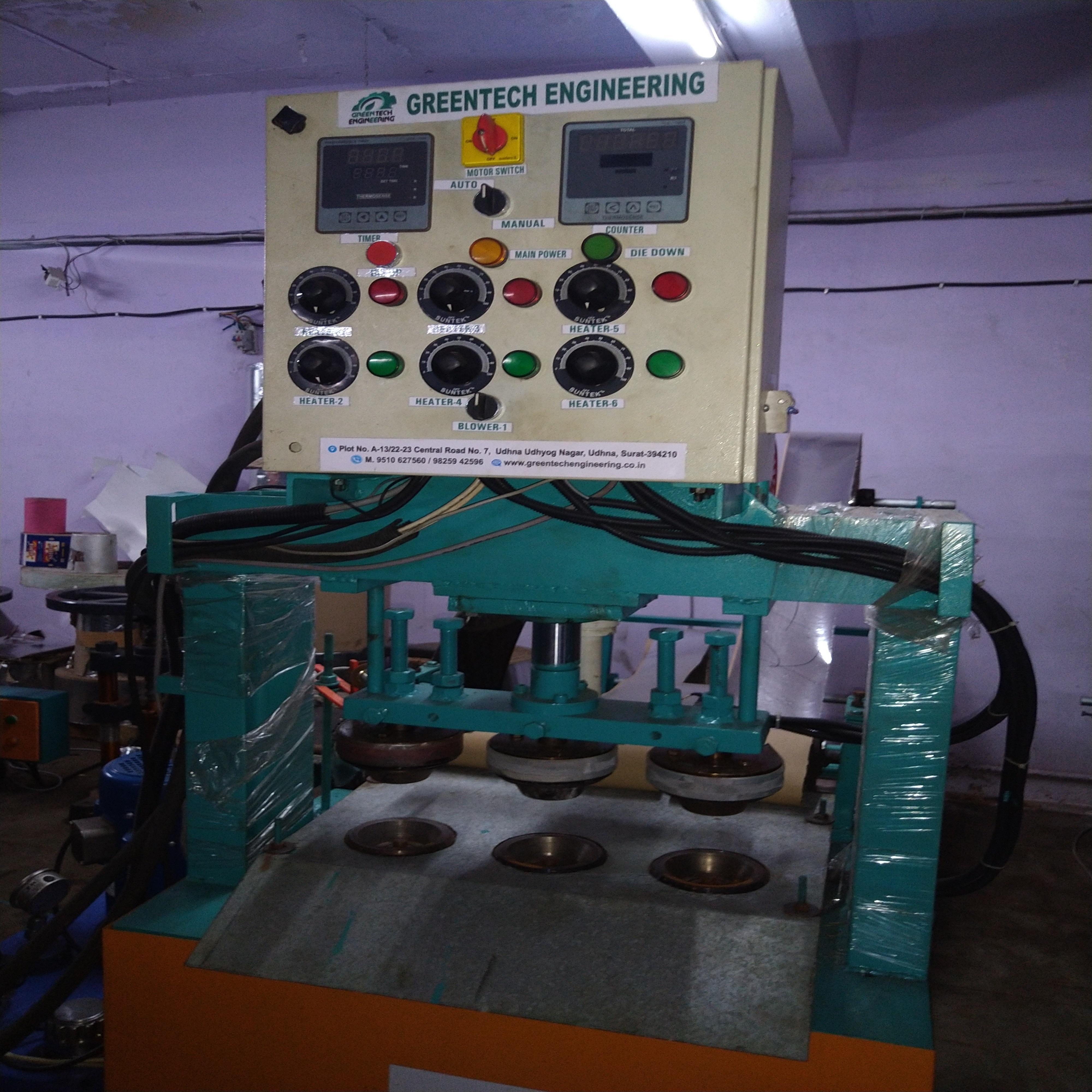 Fully Automatic Hydraulic Three Die Dona Making Machine