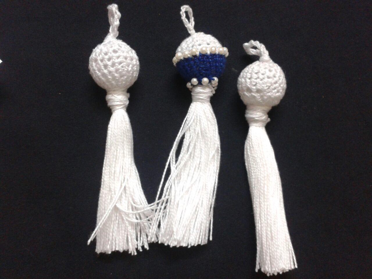 Handmade Beaded Crochet Fancy Laces, crochet motifs,