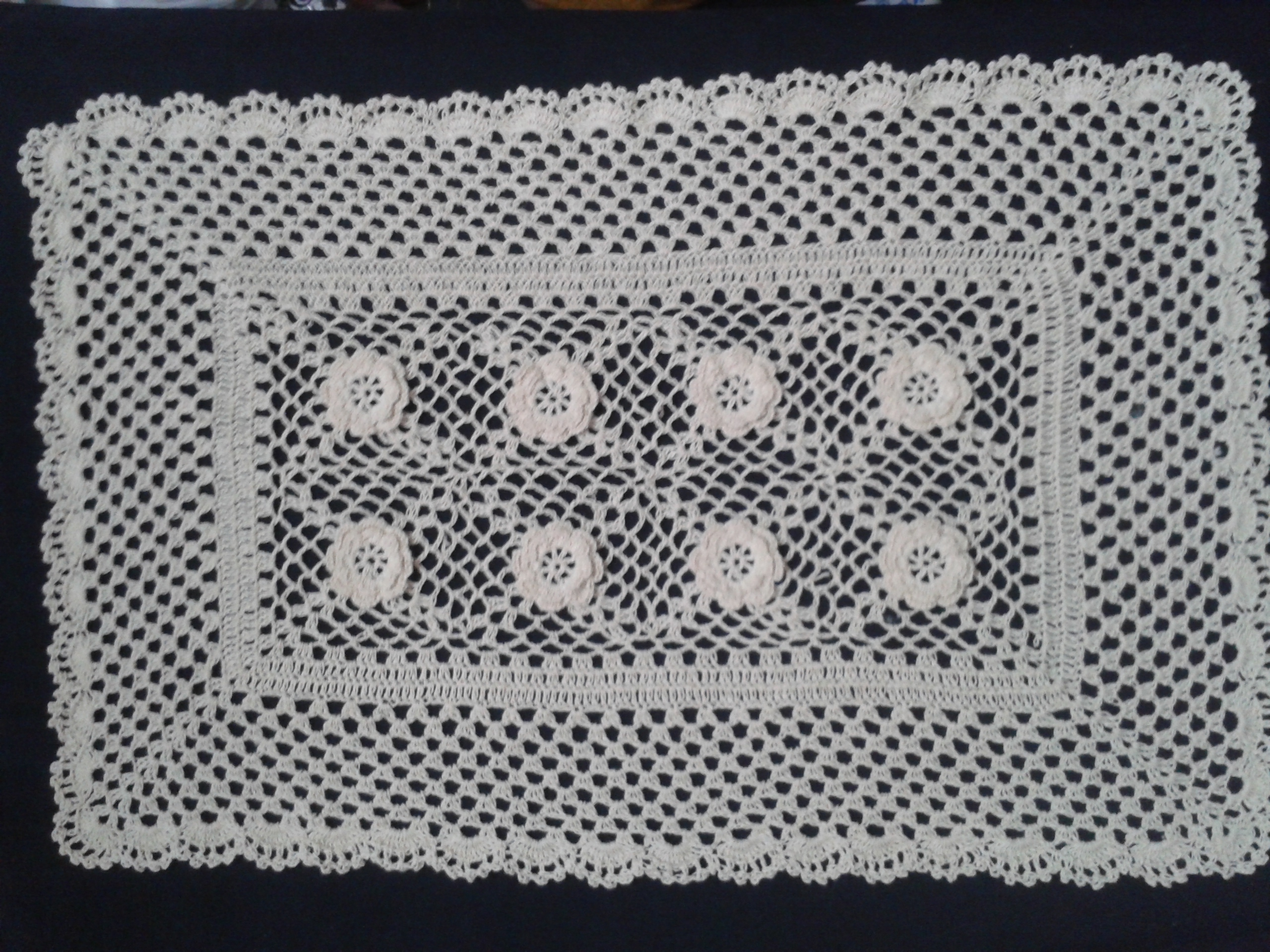 Handmade Crochet Table Runner
