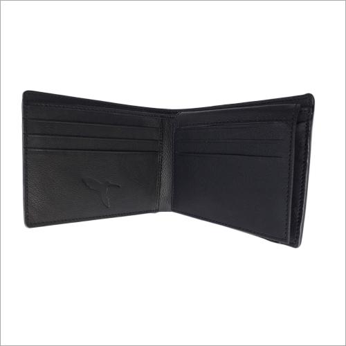 Slim Black Leather Wallet