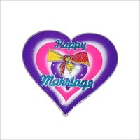Thermocol marriage heart decorative artical