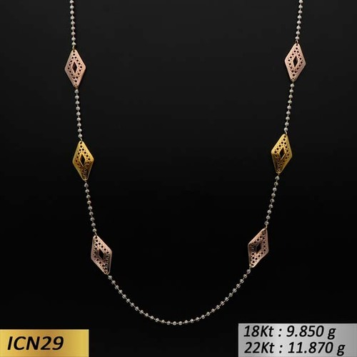 Parallelogram Shaped Gold Chain