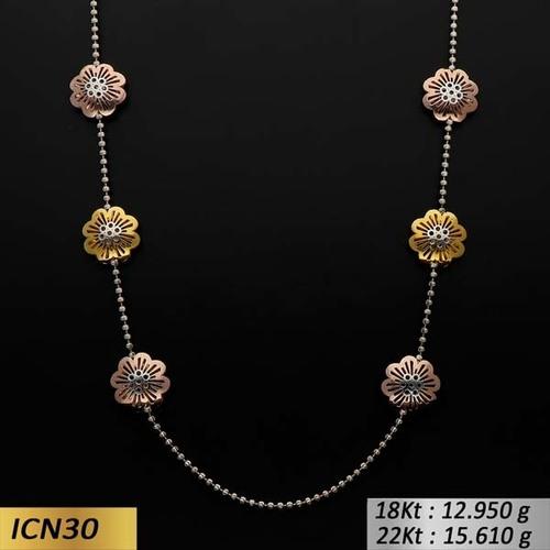 Flower Type Italian Gold Chain