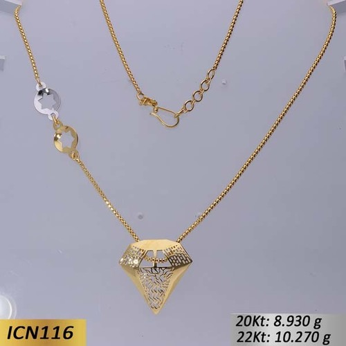 Diamond Shaped Gold chain