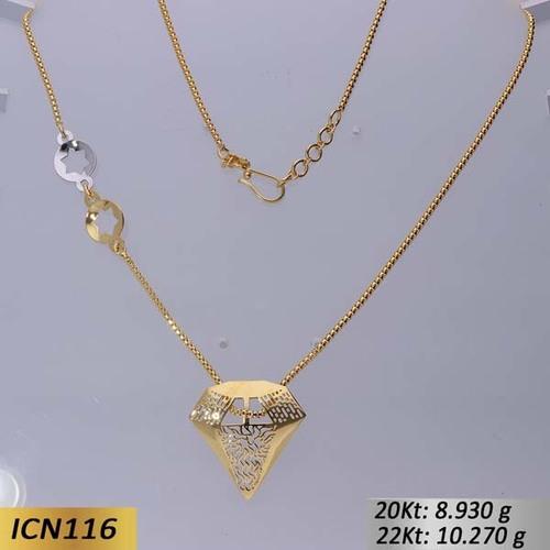Diamond Shaped Gold chain