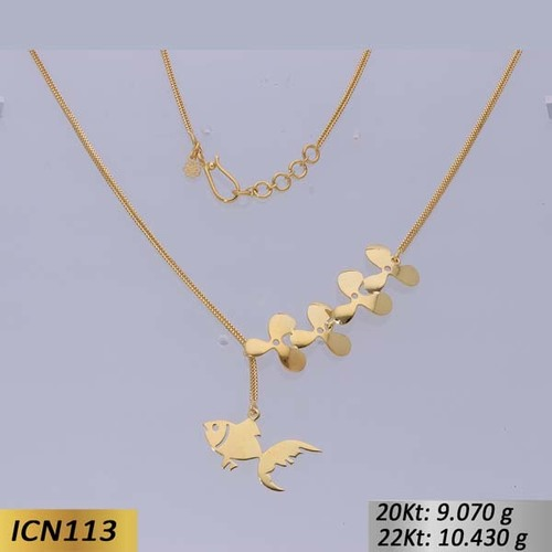 Fish Shaped Gold Chain