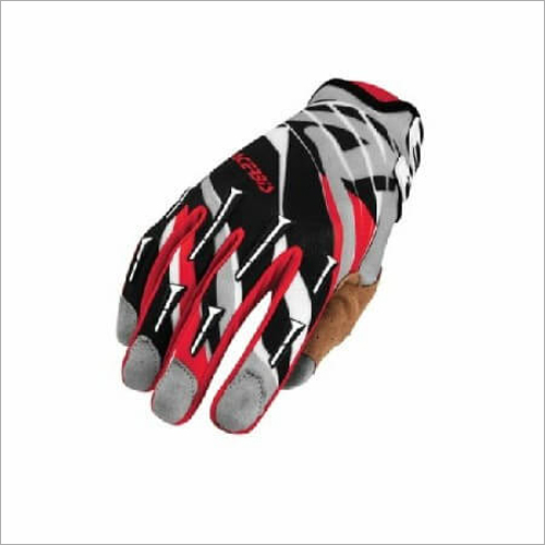 Acerbis Gaunte Luva Black Red Grey Bike Gloves