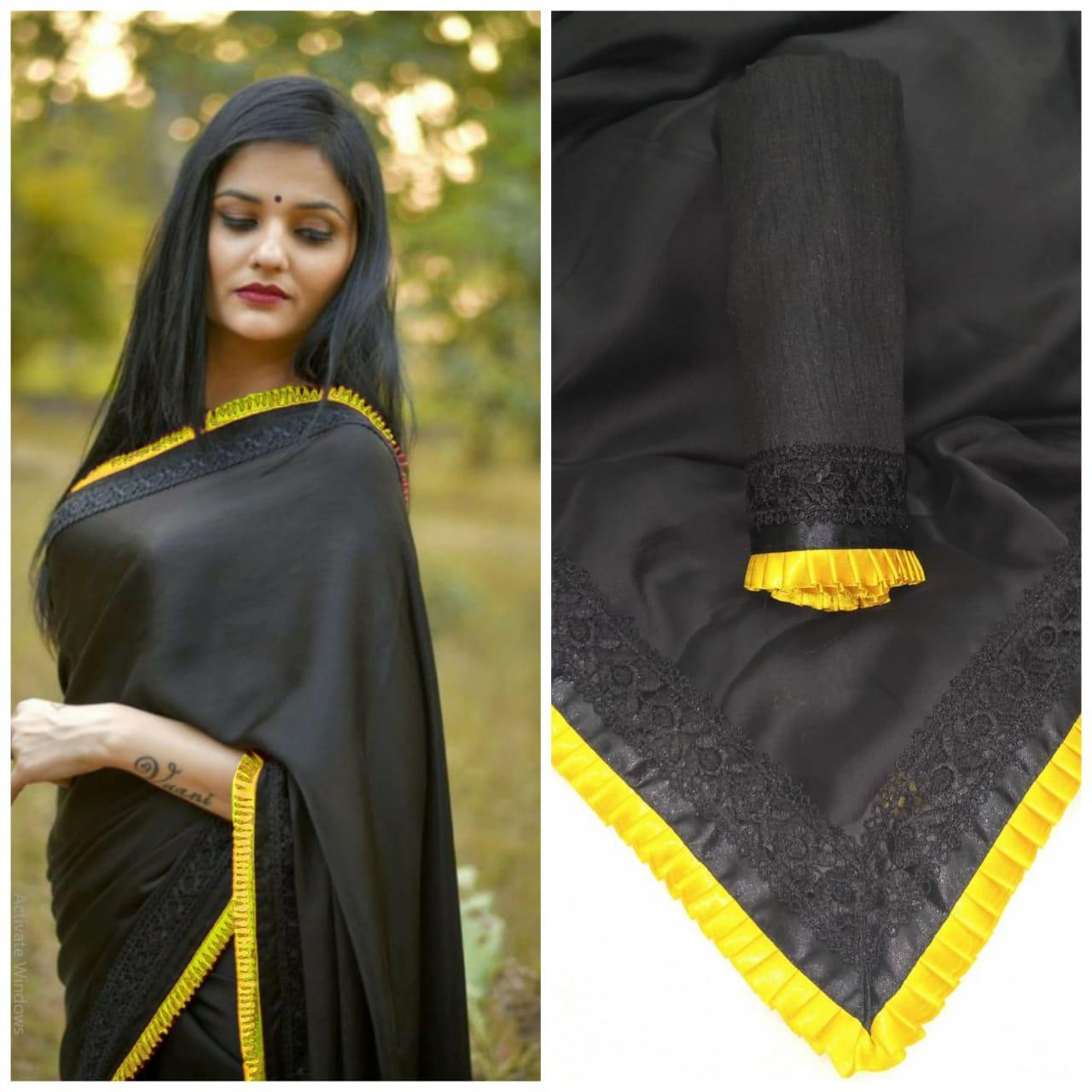 Design Black Beauty Georgette Saree