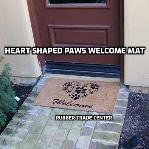 Heart Shaped Paws mat