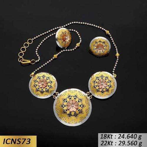 Circle Shape Gold Chain Set