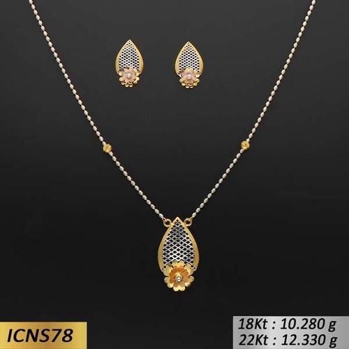 Pear Shape Gold Chain Set