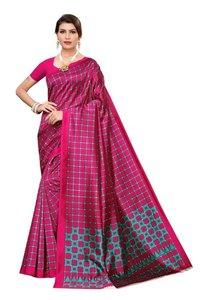 Art Silk Checks Saree