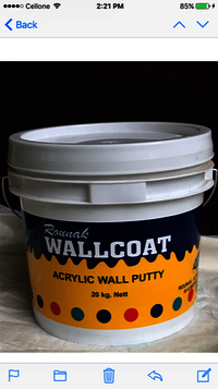 Water Thinnable Acrylic Wall Putty