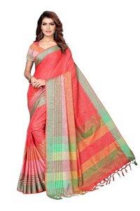 New Design Linen Sree with Jhalar