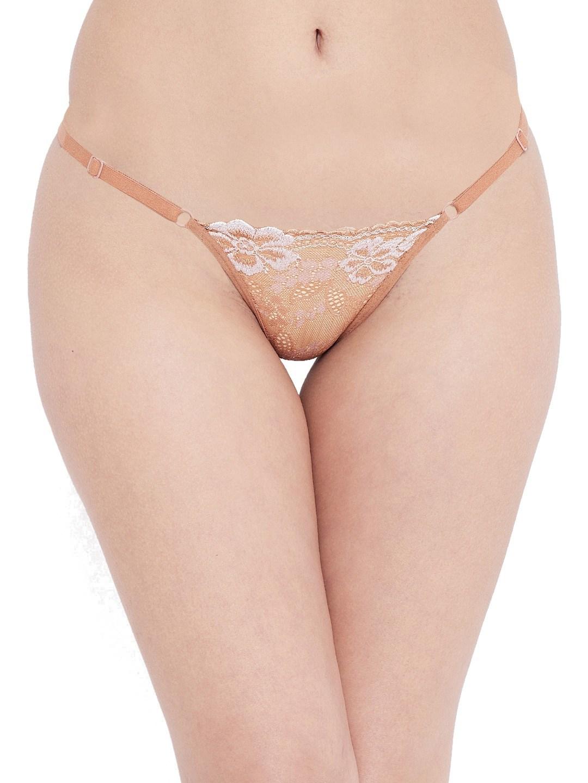 N-Gal Lace Adjustable Waist Band G-String Thong Panty